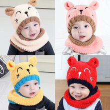 New 2018 pudcoco Newest Arrivals Baby Toddler Girls Boys Warm Hat Winter Beanie Hooded Scarf Earflap Knitted Cap(China)