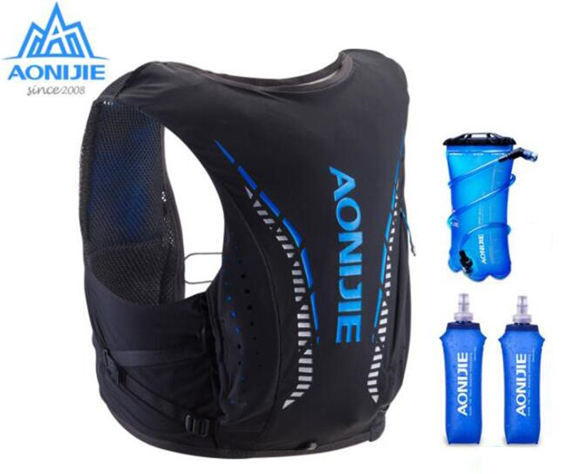 AONIJIE 8L Outdoor Bags Hiking Backpack Vest Professional Marathon Running Cycling Advanced Skin Backpack Hydration Pack