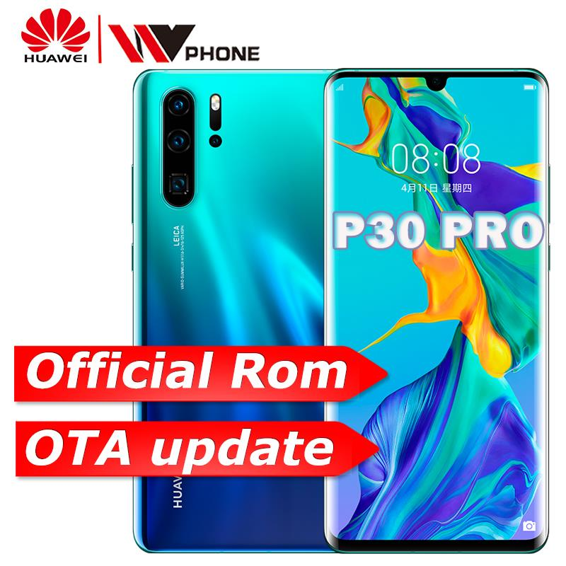 Téléphone portable d'origine Huawei P30 Pro 6.47 ''OLED FHD + Kirin 980 Smartphone Android 9.1 téléphone 5 caméras NFC OTG GPS
