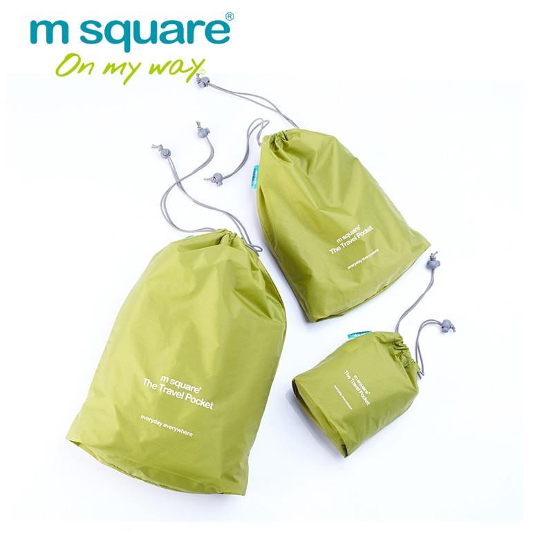 M Square Reisezubehör für Aufbewahrungstasche Reiseveranstalter Set Kordelzug Lagerung Wasserdichte 3 Stücke Set