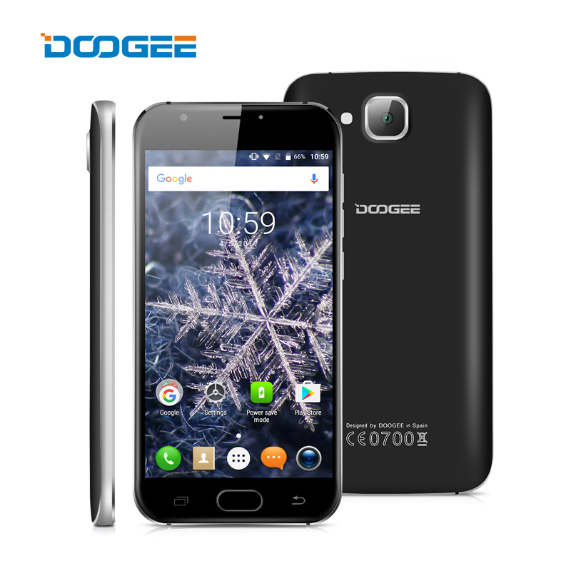 DOOGEE X9 Mini Fingerprint ID Smartphone Android 6 0 MTK6580 Quad Core 5 0 Cell Phone