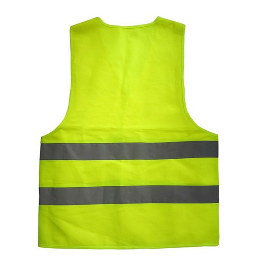 XXL Reflective Fluorescent Vest Yellow Orange Color Outdoor Safety Clothing Running Ventilate Safe High Visibility