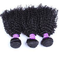 Mongolian Kinky Curly Virgin Hair 100% Human Hair Extension Three Pcs/Set Natural Color Human Hair Weave Bundles CARA Hair