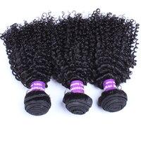 Mongolian Kinky Curly Virgin Hair 100 Human Hair Extension Three Pcs Set Natural Color Human Hair