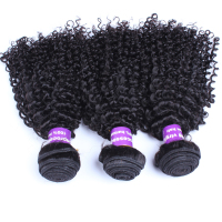 Mongolian Kinky Curly Virgin Hair 100% Human Hair Extension Three Pcs/Set Natural Color Human Hair Weave Bundles CARA Hair
