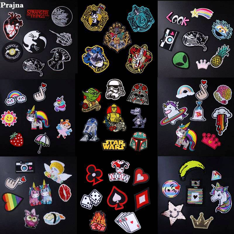 e8ca12adaab Detail Feedback Questions about Prajna Wholesale Patch Harry Potter Star  Wars Patch Iron On Cartoon Patches Cute Cheap Embroidered Patches For  Clothing DIY ...