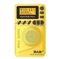 Portable DAB Digital FM Radio Speaker Mini FM Radio Receiver MP3 Player With LCD Stereo Loudspeaker