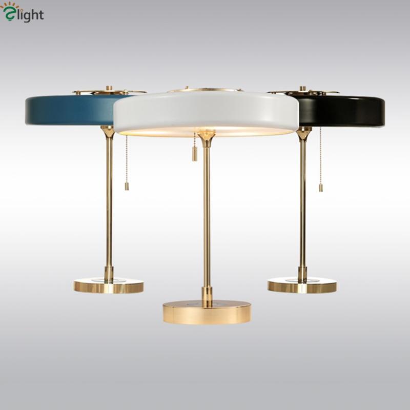 Us 176 84 39 Off American Retro Bert Frank Lighting Table Light Plated Gold Metal Fiber Gl Shades 3 G9 Led Desk Lamp Rope Switch In