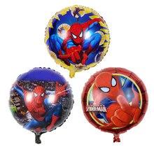 1 шт. 18 дюймов круглый гелиевый алюминиевый шар Человек-паук детские игрушки Воздушные шары День рождения украшения детские товары