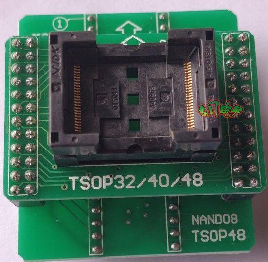 Free shipping 2pcs/lot TSOP48 NAND burner XGECU TL866II PLUS programmer dedicated bounce seat conversion