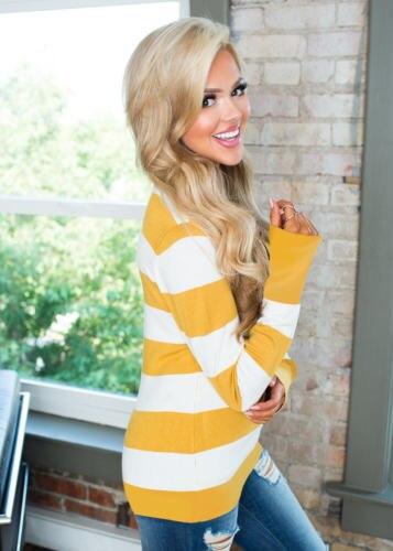 4 цвета женские Осень Зима желтый для беременных, с длинным рукавом v-образным вырезом полосы печатных футболка Веселая беременных Топы Блуз...