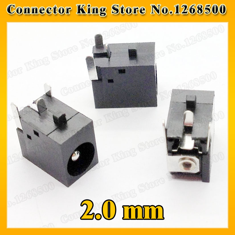 CK   1 Piece Laptop DC power jack 2.0 mm center pin for HP/Acer /Compaq/Gateway/Armada,DC-005 100pcs lot dc power panel jack with 2 1mm center pin