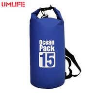 MELIFE 15L Wasserdichte Lagerung Trocken Tasche Ozean Pack Sack Kajak Rafting Outdoor Sport Schwimmen Taschen Canoing Bootfahren Wasser Widerstand