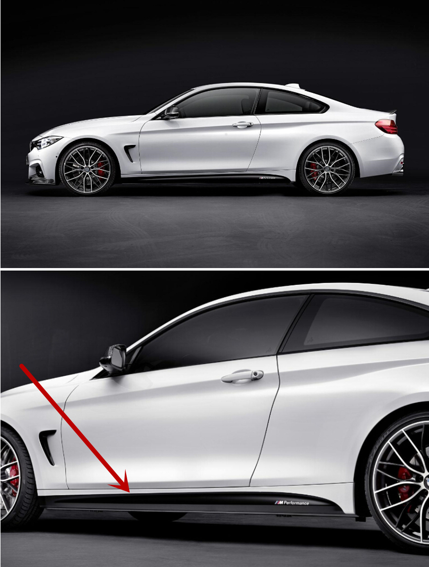 Sport car sticker design - For F32 4 Series Coupe M Sport M Performance X2 Side Skirt Decoration