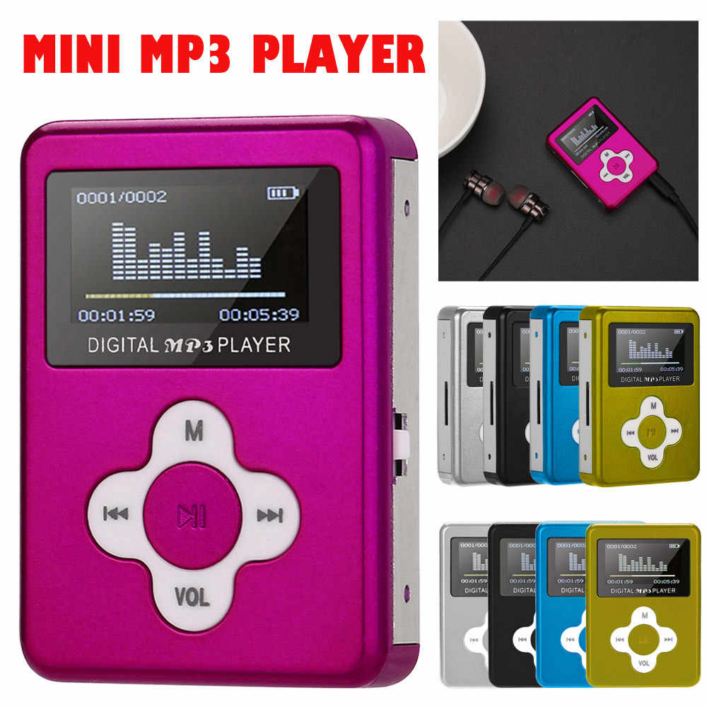 Fashionable USB Mini Digital MP3 Player LCD Screen Metal Case Support 32GB Micro SD TF Card 3.5mm Stereo Jack Droship 10jul 10