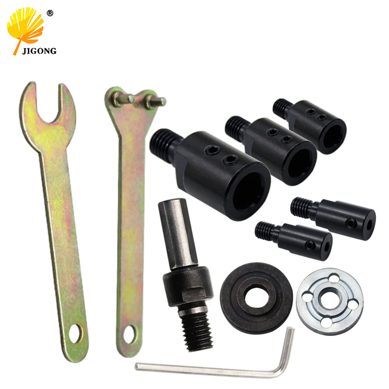 5/6/8/10/12mm Drill Spindle Adapter Grinding Polishing Shaft Motor Bench Grinder Saw Blade Adapter Connecting Rod Sleeve