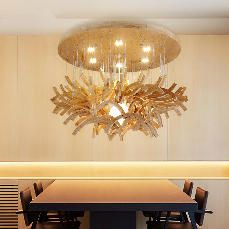 Creative personality art lighting restaurant living room lights bedroom lights simple wooden craft lamps chandelier modern creative table basse wooden big horse wood craft for art home office theme restaurant living room study decoration tm013m