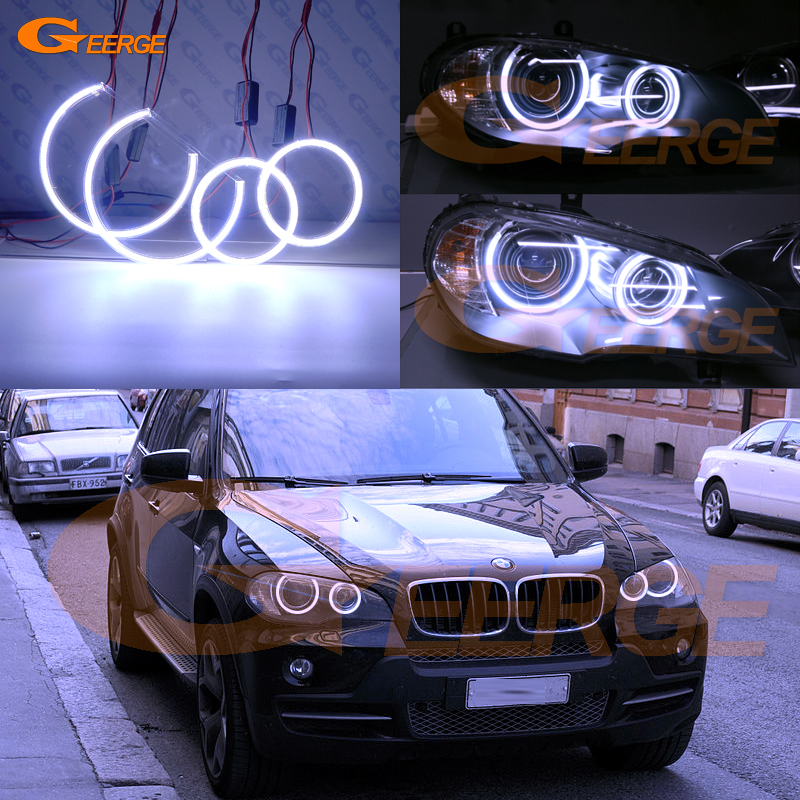 For BMW X5 e70 2007 2008 2009 2010 2011 2012 2013 Xenon headlight Excellent Ultra bright illumination COB led angel eyes kit for alfa romeo 147 2005 2006 2007 2008 2009 2010 headlight ultra bright illumination cob led angel eyes kit halo rings