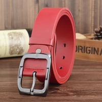 Red Designer Luxury Brand Belts For Mens Genuine Leather Male Women Casual Jeans Vintage Fashion High
