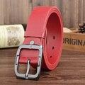 Rojo de Lujo del Diseñador Cinturones de Marca para Hombre Genuino Masculino de Cuero Ocasional de Las Mujeres Jeans Vintage Correa de Cintura de Moda de Alta Calidad