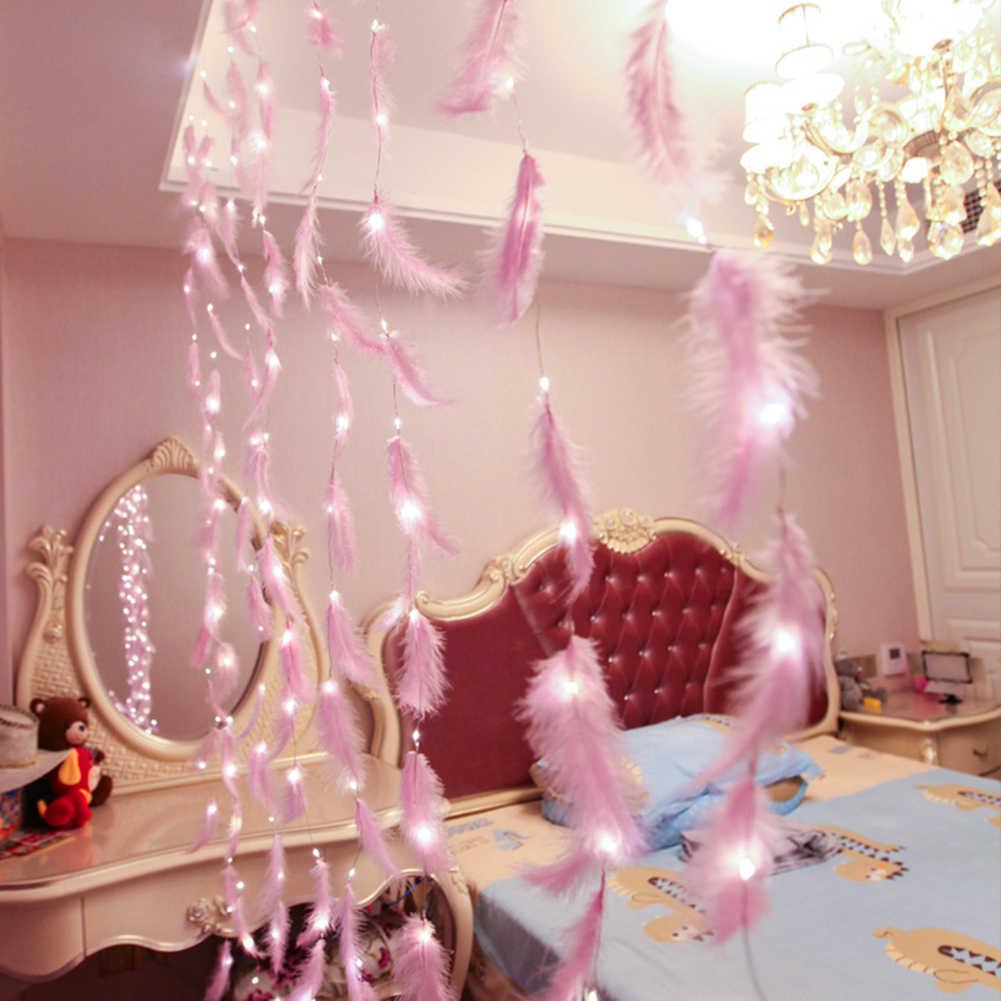 3 м перо для рукоделия USB СВЕТОДИОДНАЯ Гирлянда китайские фонарики, веревка рождественские вечерние украшения для дома, свадьбы, сада, Рождества