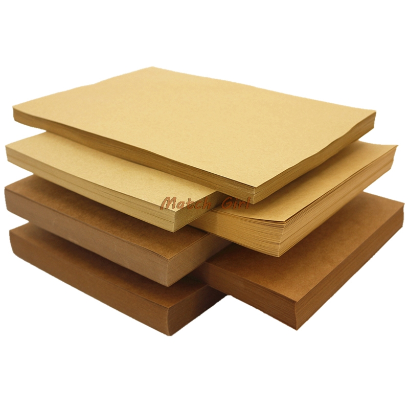 50pcs Lot A4 Size 21 29 7cm Kraft Paper 250gsm Card Paper DIY Box Gift Packing