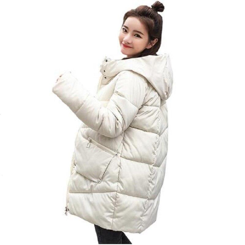 Parkas   2018 New Winter Jacket Women Coats Hooded Jaqueta Feminina Female   Parka   Thick Cotton Padded Lining Winter Coat Women