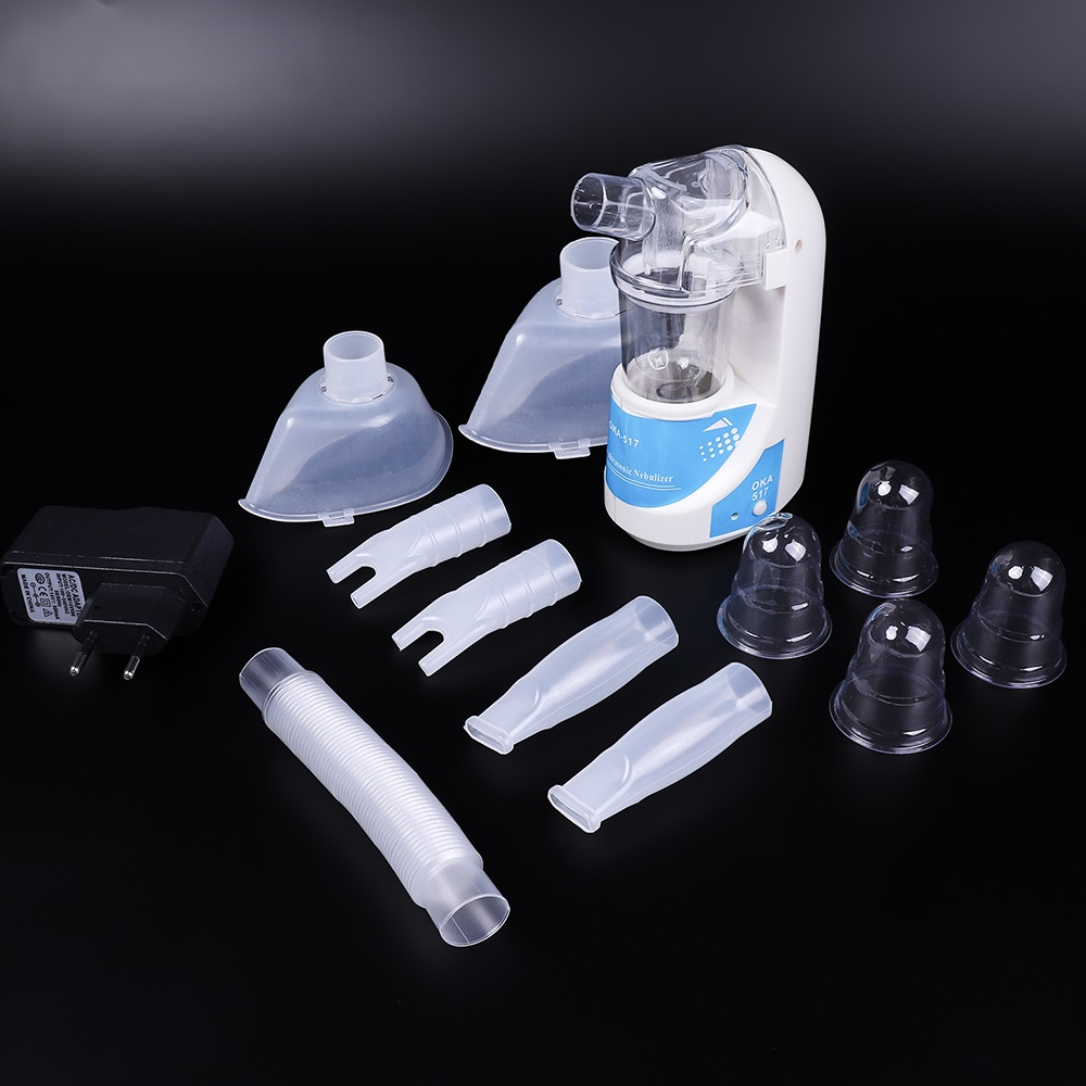 Casa nebulizador ultrasónico compacto y portátil inhaladores nebulizador niebla de inhalador de asma de la Mini Automizer de la UE nos enchufe