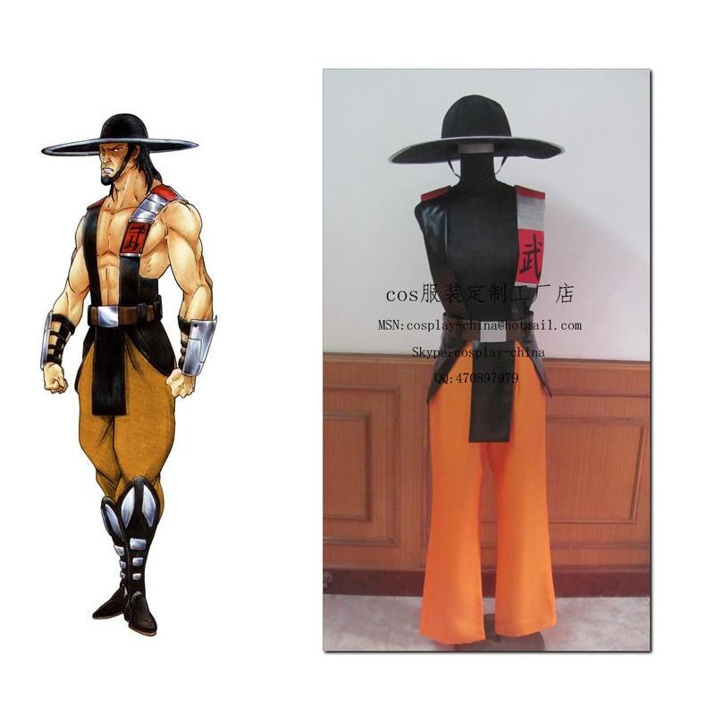 2016 mortal kombat 3 kung lao cosplay costume for adult halloween costumes custom madechina - Mortal Kombat Smoke Halloween Costume