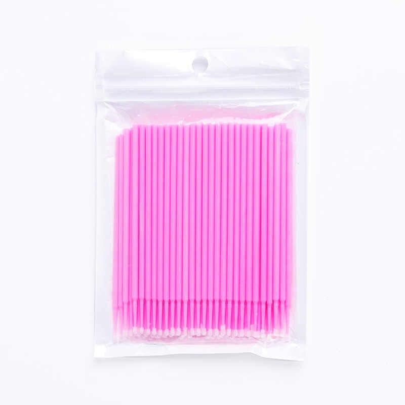 100 Stks/pak Micro Wegwerp Applicator Mini Wattenstaafje Make Tools Valse Wimpers Verwijderen Gereedschap Lash Borstels Voor Wimper Extension