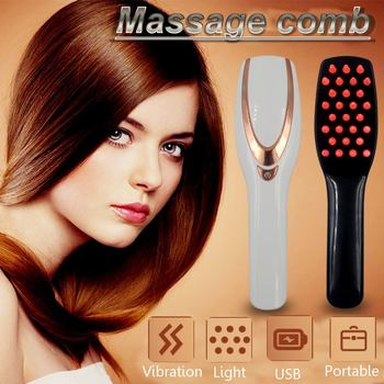 Laser Electric Wireless Infrared Ray Growth Laser Anti Hair Loss Hair Growth Care Vibration Head Massage Comb Massager for Head Beauty Tools