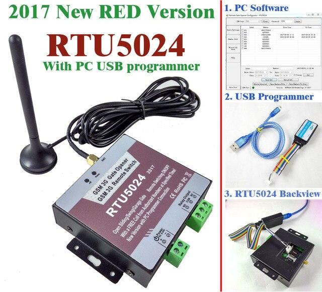 O envio gratuito de 2017 Nova RTU5024 Interruptor do Relé de Controle de Acesso Remoto Sem Fio GSM Portão Opener Abridor de portão Deslizante Por Chamada Gratuita