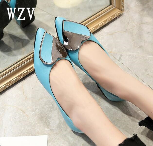 2018 New Fashion Heart decoration Spring Women Flats Shoes Ladies Bow pointed Toe Slip-On Flat Women's Shoes B245 beyarne spring summer women moccasins slip on women flats vintage shoes large size womens shoes flat pointed toe ladies shoes