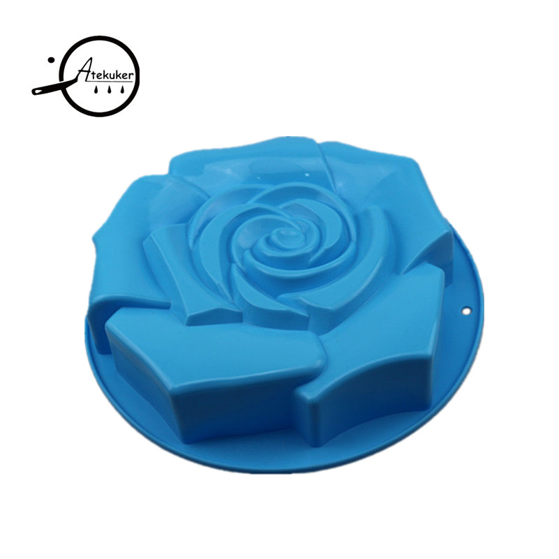 Atekuker Big Rose Blume Form Silikon Backform Zum Backen Gebäck - Küche, Essen und Bar - Foto 4