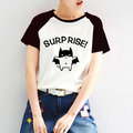 Unisex Suelta BATMAN Lindo Kawaii Emoji Mujeres PVC Impresión de la Letra Camiseta Femenina Harajuku Anime Manga Raglán Camiseta Impresa Par