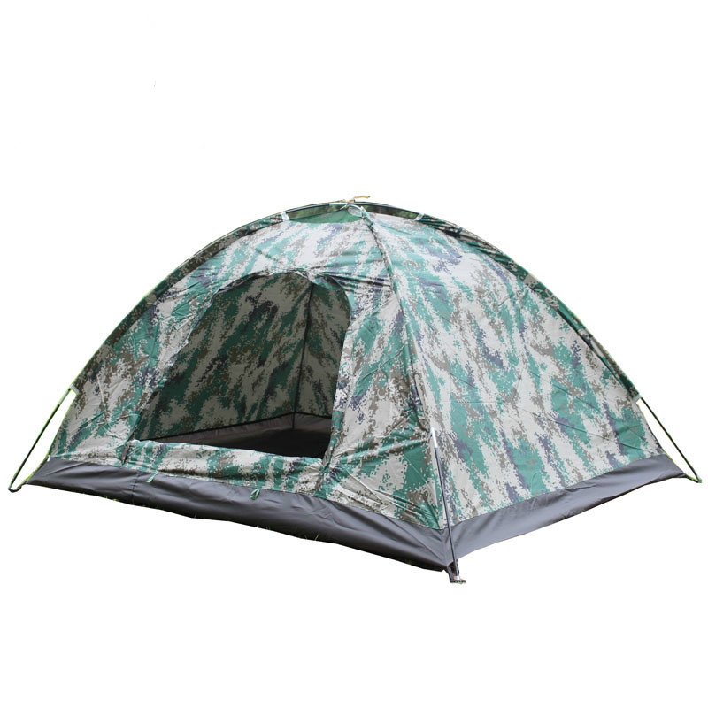 Double camouflage <font><b>tent</b></font> <font><b>outdoor</b></font> camping portable mosquito net canopy beach ultralight backpacking <font><b>car</b></font> 1 person hunting image