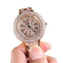 Lucky Watch Women Luxury Watch Relogio Feminino Flower Women Lady Shining Rotation Dress Watch Diamond Clock Hours Waterproof