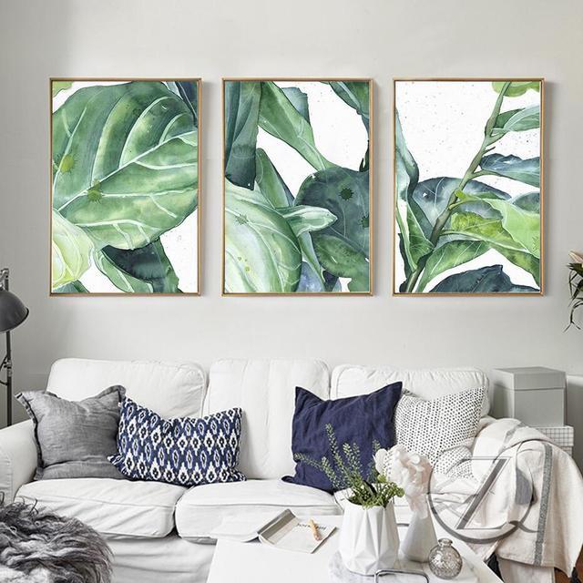 Moderne Dekoration Cartoon Grüne Pflanze Leinwand Malerei Nordic Poster  Wand Bilder Für Wohnzimmer Kein Rahmen