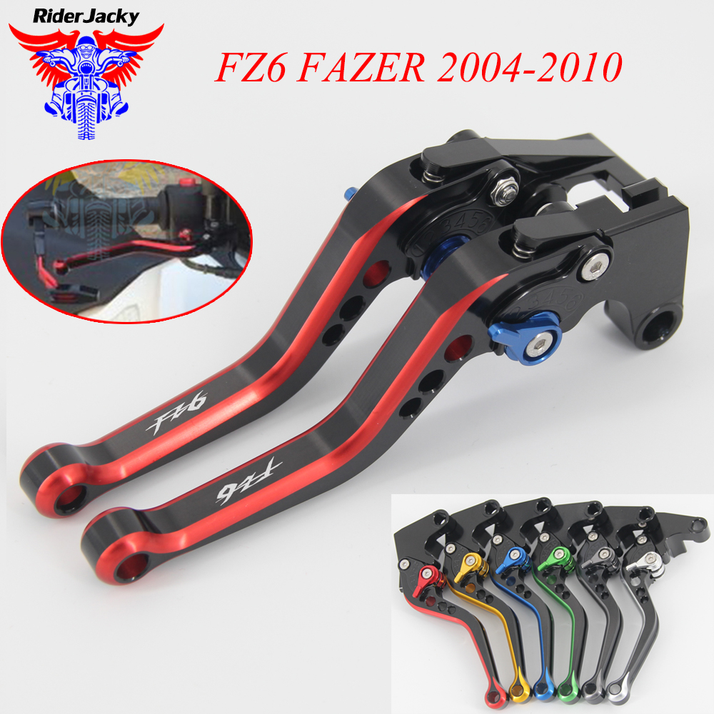 MIX Color 147MM Adjustable Short Motorcycle Brake Clutch Lever For <font><b>Yamaha</b></font> FZ 6 <font><b>FZ6</b></font> FAZER 2004-2010 2009 2008 2007 <font><b>2006</b></font> 2005 image