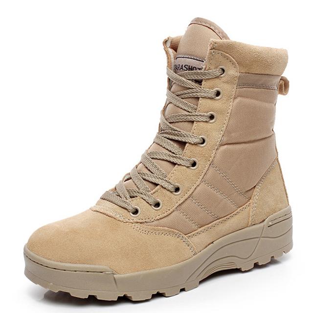 2015 Dos Homens Botas Militares das forças especiais tático botas de deserto botas de combate ao ar livre sapatos botas de Infantaria especial