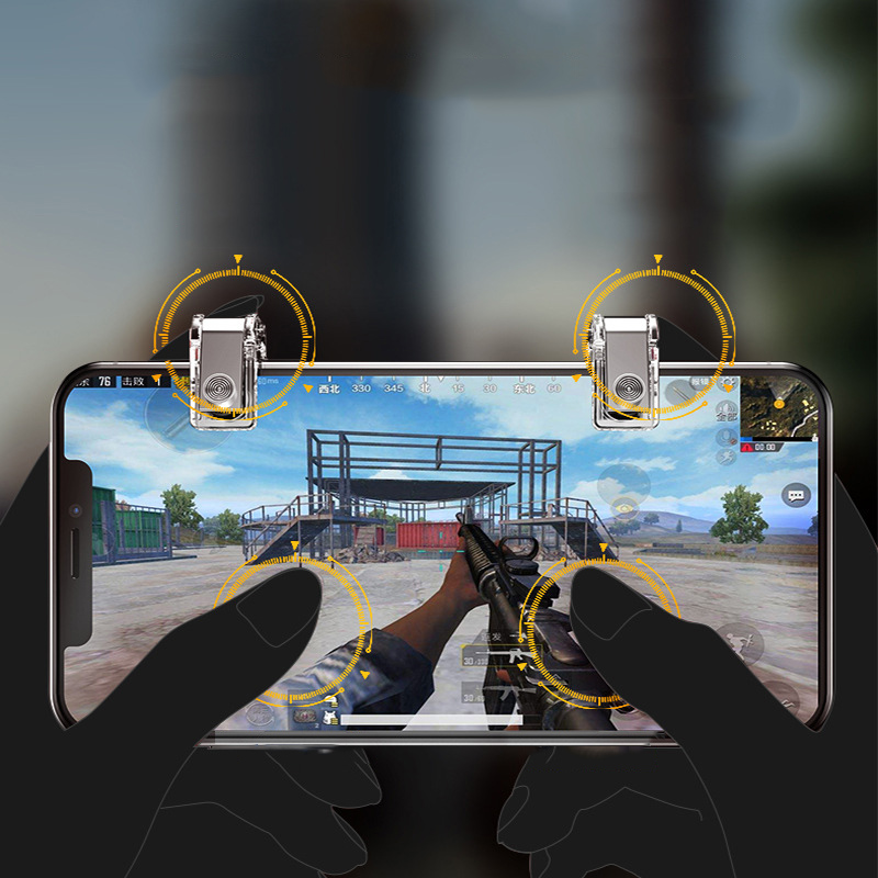 Image 4 - Metal PUBG Mobile Game Controller Gamepad Trigger Fire Button Aim Key L1 R1 Shooter Pubg Smartphone Gamepad  Accessories-in Gamepads from Consumer Electronics