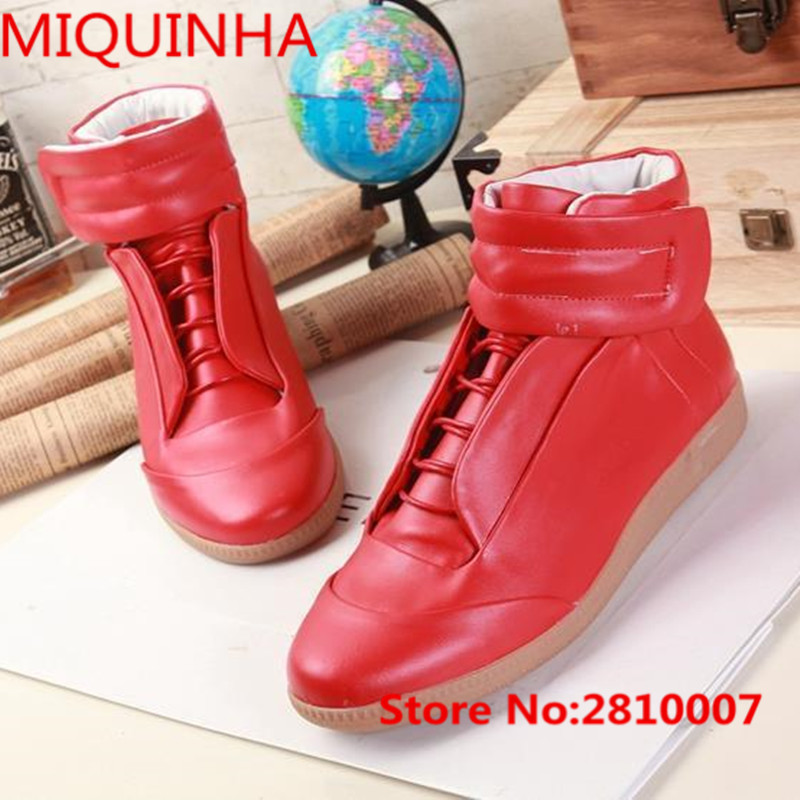 Spring Autumn New Design Brand Men 's Casual Shoes High-Top Buckle Mens Fashion Trend Shoes Solid Color Casual Shoes Flat shoes