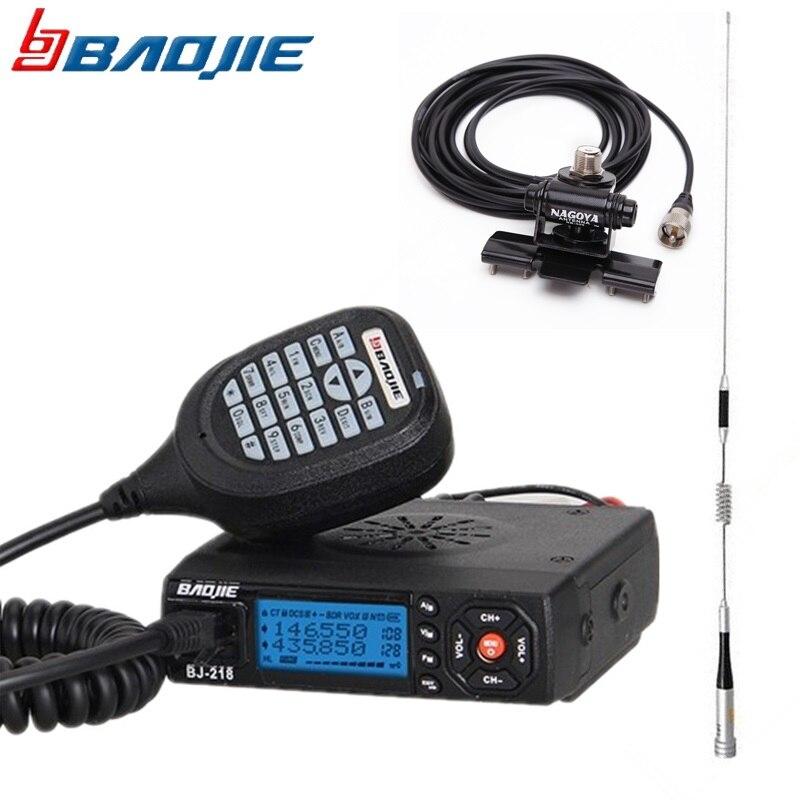 Baojie bj-BJ-218 Dual Band Mobile Radio Ricetrasmettitore 25 Watt A Lungo Raggio BJ218 Auto Walkie Talkie Ham Radio CB + M507 pacchetto Antenna