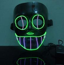 Flash El Wire Fashion Dance Party Mask Led Glowing Beauty Christmas Ball Party Mask Hot Sale