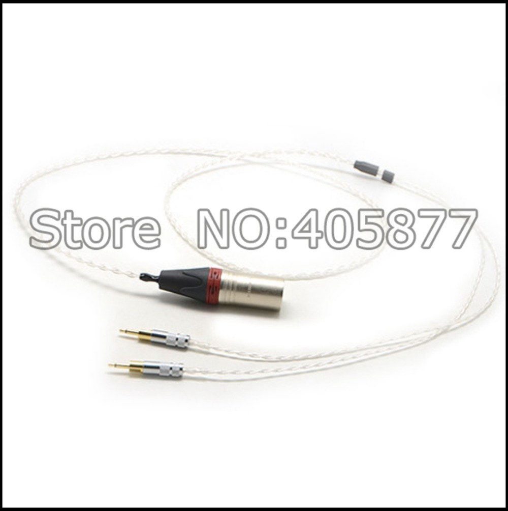 цены Free shipping 4pin XLR Male 5N + Silver Plated Cable for HD700 Headphone Cable