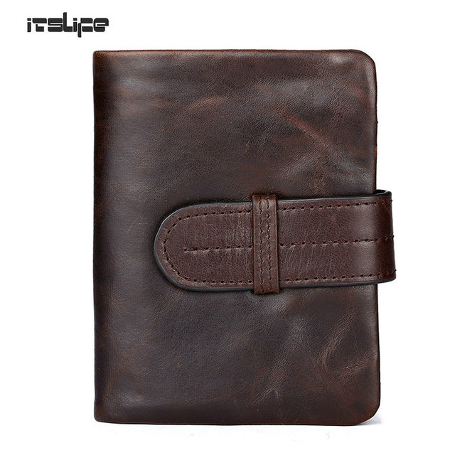 Men Wallets Famous Brand 100% Cowhide Genuine Leather Wallet Men Card Holder With Coin Pocket Short Vintage Design Wallet Purse