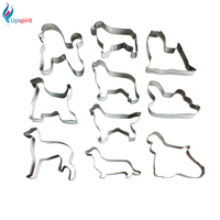 10Pcs Set Dogs Type Stainless Steel Cookie Cake Cutters Biscuit Pastry Mould Fruit Vegetable Cutter Kitchen