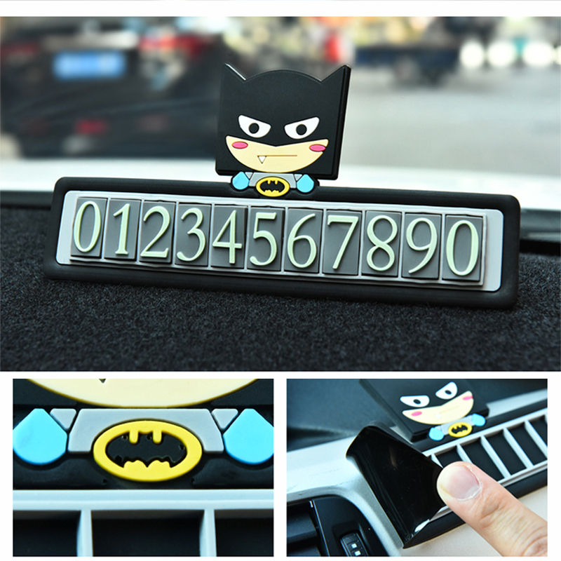 Cartoon creative temporary parking card phone number car sticker number table