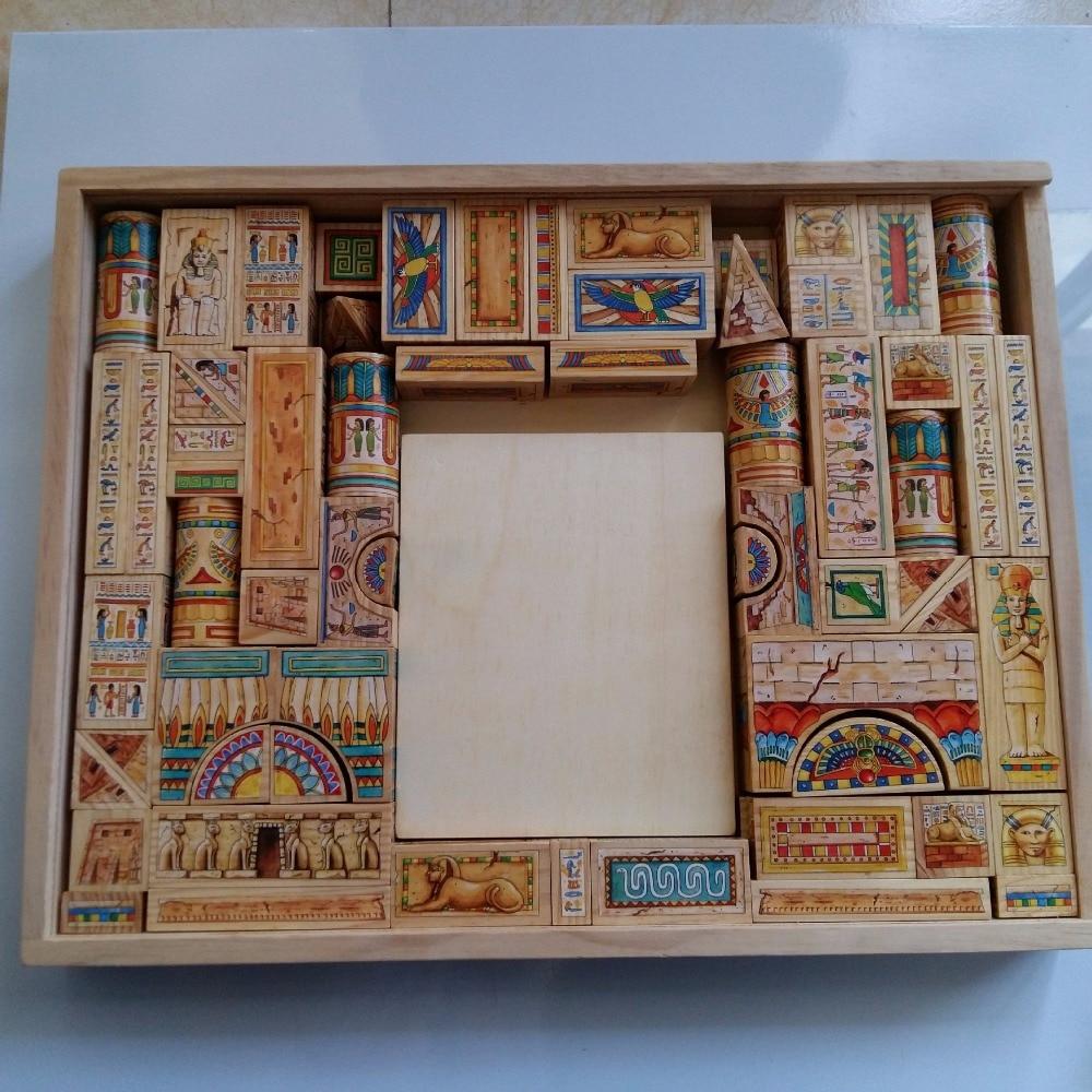 Egyptian pharaoh Castle blocks, children's building blocks, kindergarten tower tower, puzzle toys single sale figure aztec egyptian viking warrior atlantis mummy pharaoh barbarian altantis building blocks set model bricks toy