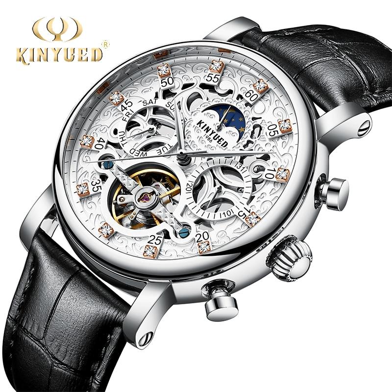 【】KINYUED классические мужские часы-Скелетон <b>automatic</b> ...